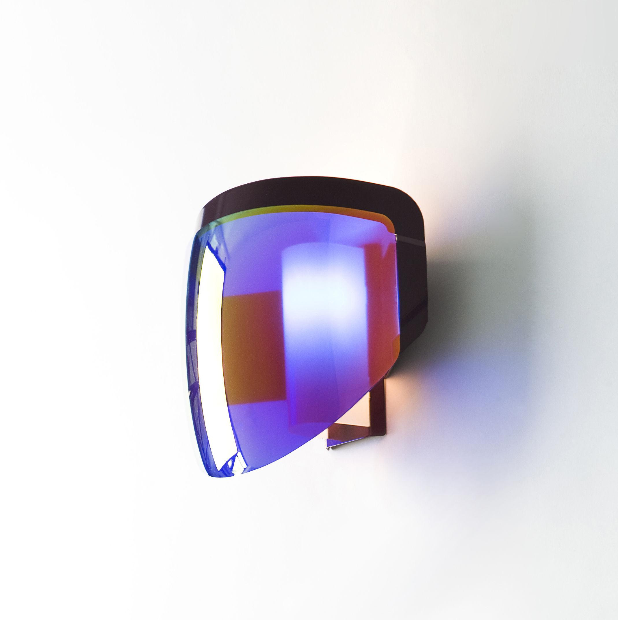 applique avec prise moto moustache violet l 29 x h 24 made in design. Black Bedroom Furniture Sets. Home Design Ideas