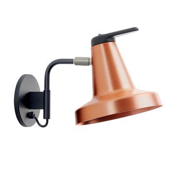 Applique Garçon Small / Orientable - Avec interrupteur - Carpyen cuivre en métal