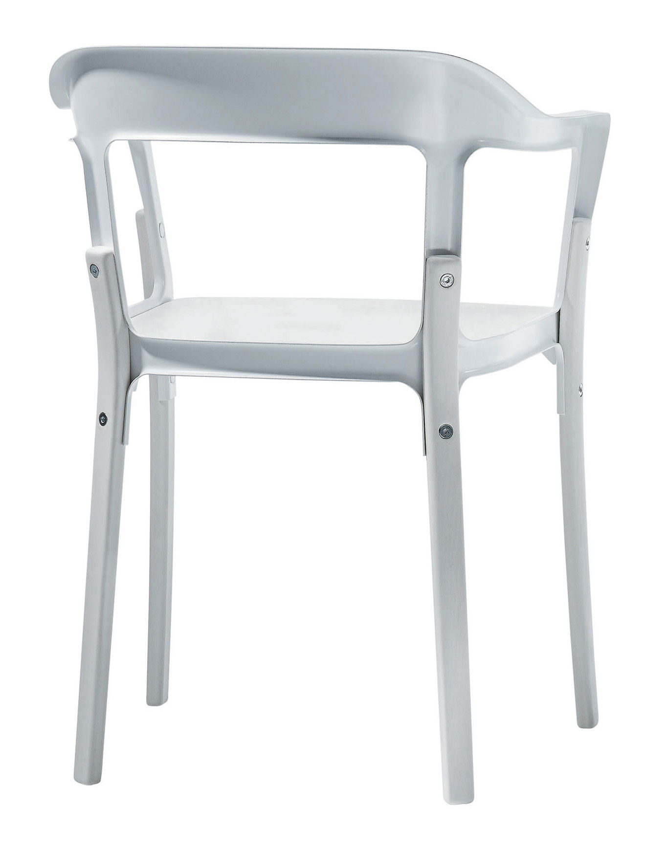 Furniture - Chairs - Steelwood Armchair - Wood & metal by Magis - White - Tinted beechwood, Varnished steel