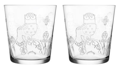 Tavola - Bicchieri  - Bicchiere Taika - / Set da 2 di Iittala - Trasparente - Vetro