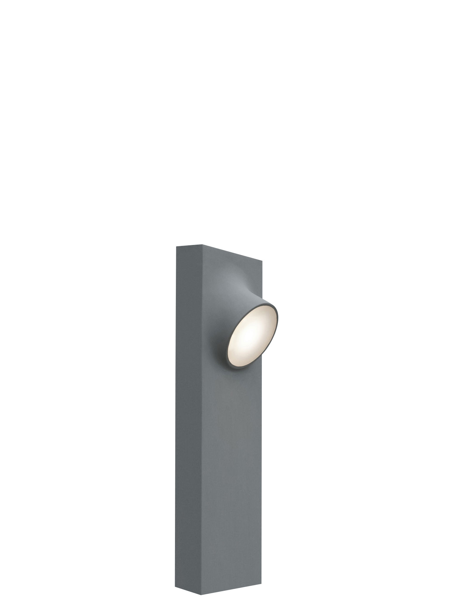 Leuchten - Außenleuchten - Ciclope Double LED Bodenleuchte für außen - H 50 cm - Artemide - Grau - H 50 cm - Aluminium galvanisé