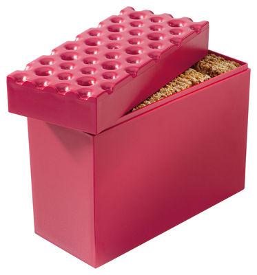 Boîte hermétique Brod pour biscuits - Koziol framboise en matière plastique