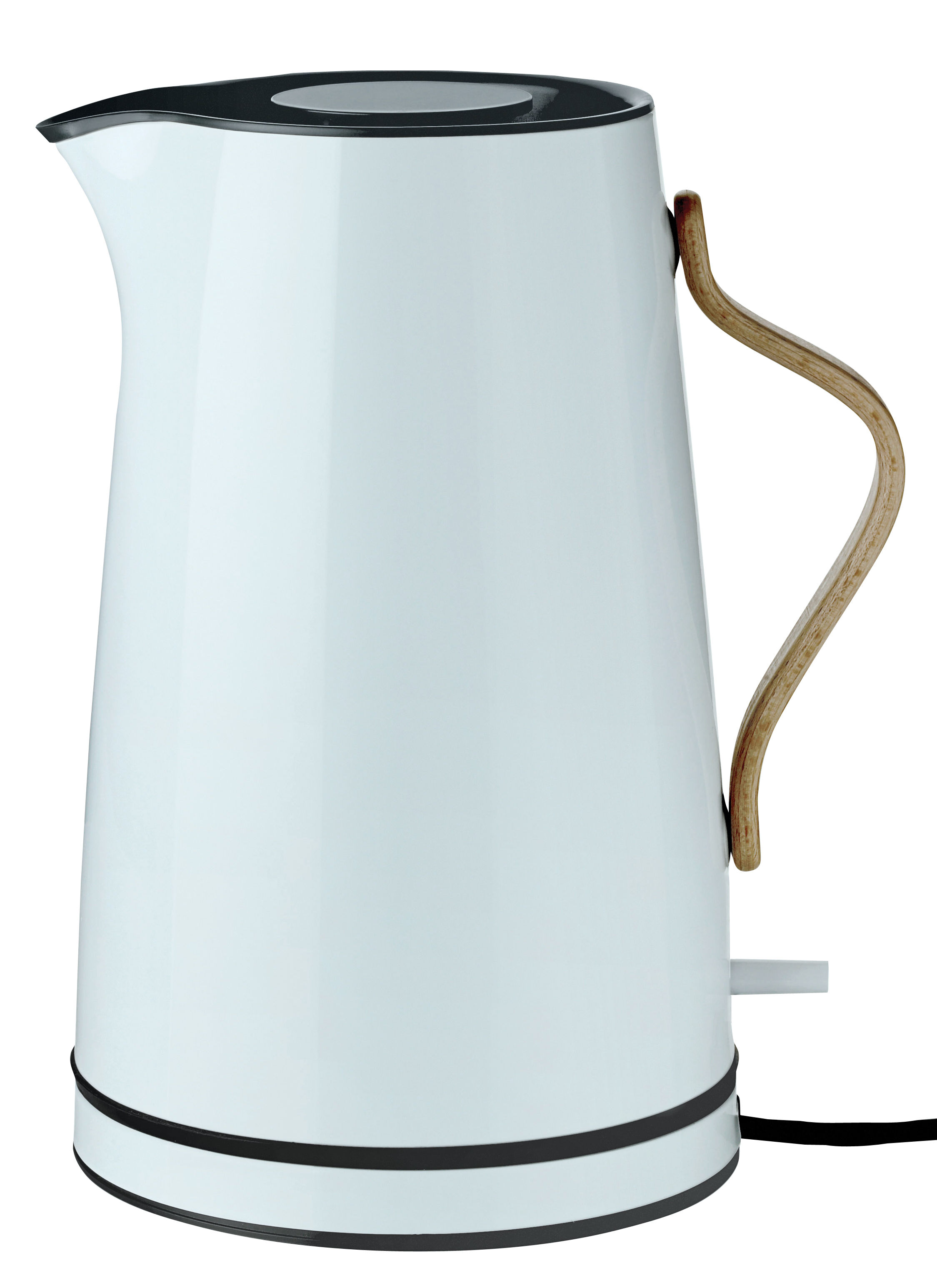 Cucina - Teiere e Bollitori - Bollitore elettrico Emma / 1,2 L - Stelton - Grigio chiaro & legno - Acciaio inossidabile laccato, Faggio