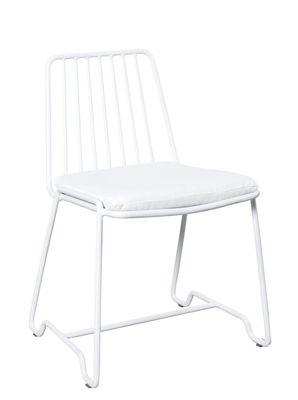 Furniture - Chairs - Fish & Fish Chair - / With seat cushion by Serax - White / White cushion - Lacquered aluminium