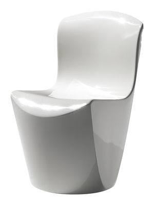 Furniture - Chairs - Zoe Chair - Lacquered plastic by Slide - Lacquered white - Recyclable lacquered polyethylene