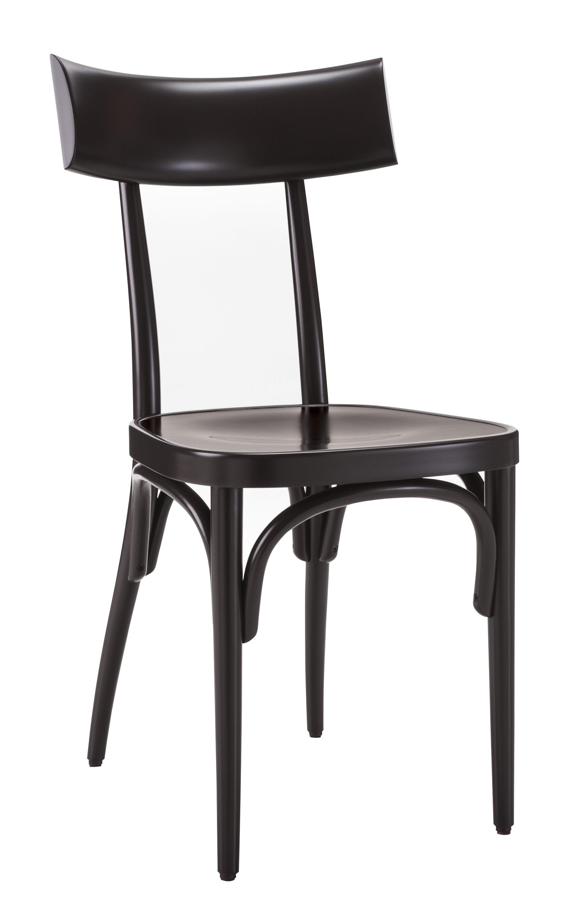 Mobilier - Chaises, fauteuils de salle à manger - Chaise Czech / Bois - Wiener GTV Design - Noir / Pieds noirs - Contreplaqué de hêtre, Hêtre massif cintré