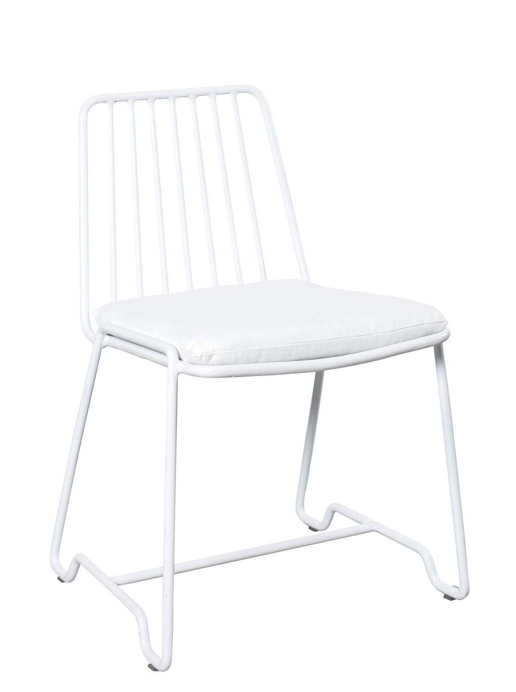 Mobilier - Chaises, fauteuils de salle à manger - Chaise Fish & Fish / Avec coussin d'assise - Serax - Blanc / Coussin blanc - Aluminium laqué