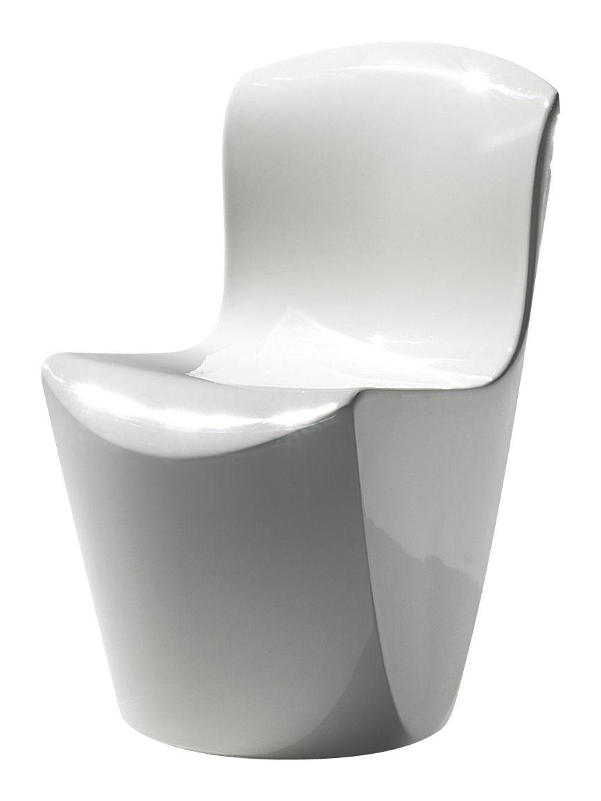 Mobilier - Chaises, fauteuils de salle à manger - Chaise Zoe / Plastique laqué - Slide - Laqué blanc - Polyéthylène recyclable laqué