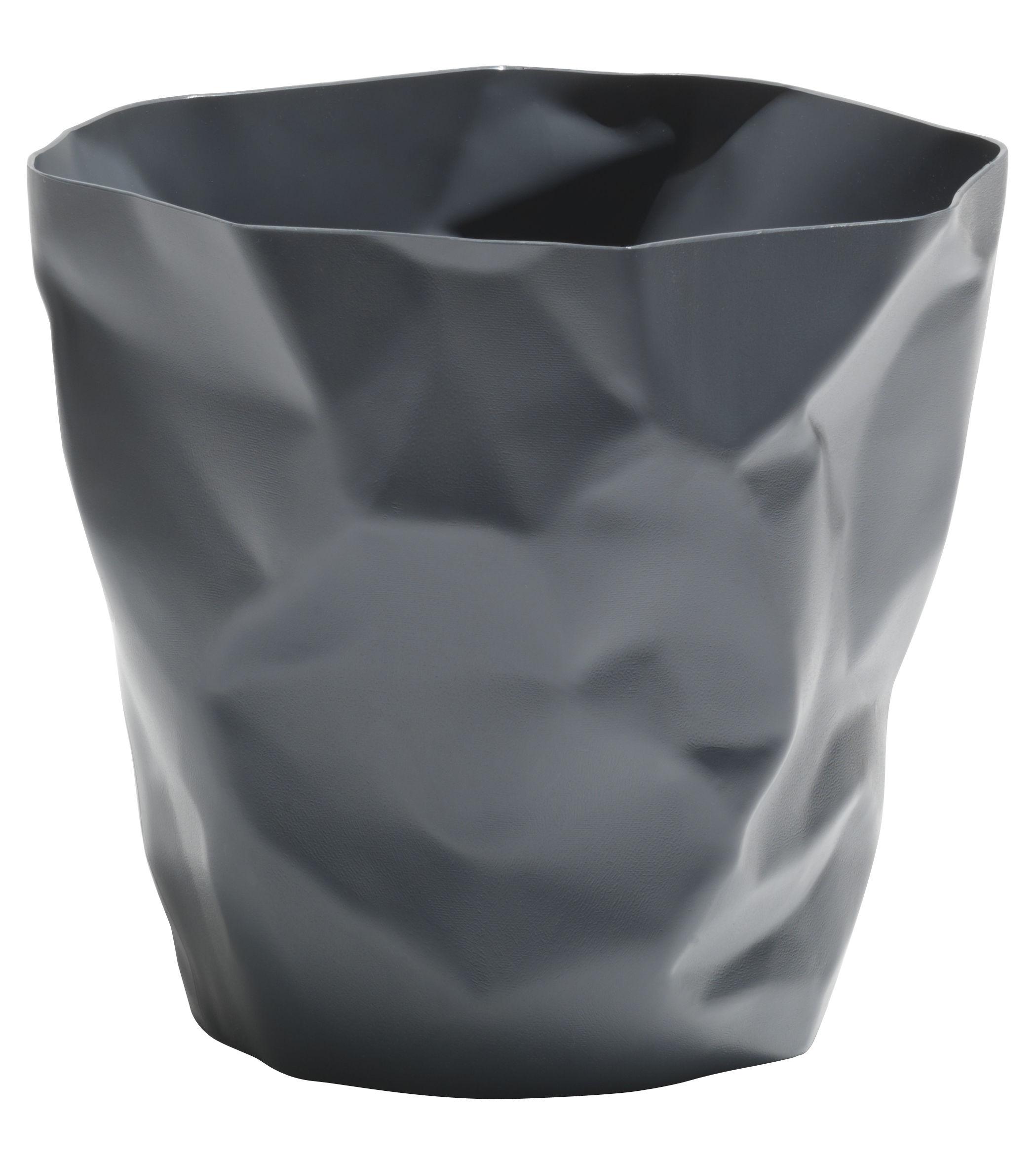 Accessoires - Accessoires bureau - Corbeille Bin Bin / H 31 cm - Essey - Gris graphite - Polyéthylène