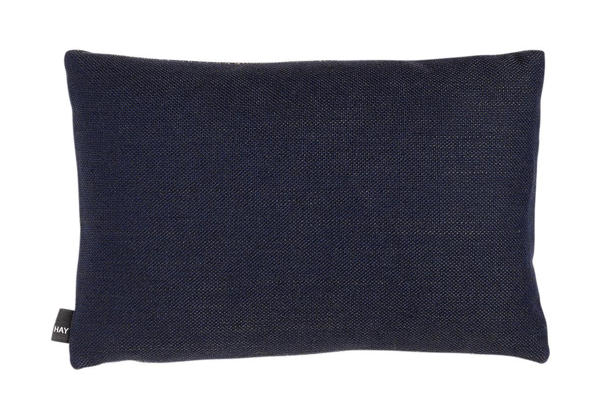 Déco - Coussins - Coussin Eclectic / 45 x 30 cm - Hay - Bleu moucheté or - Plumes, Tissu Kvadrat
