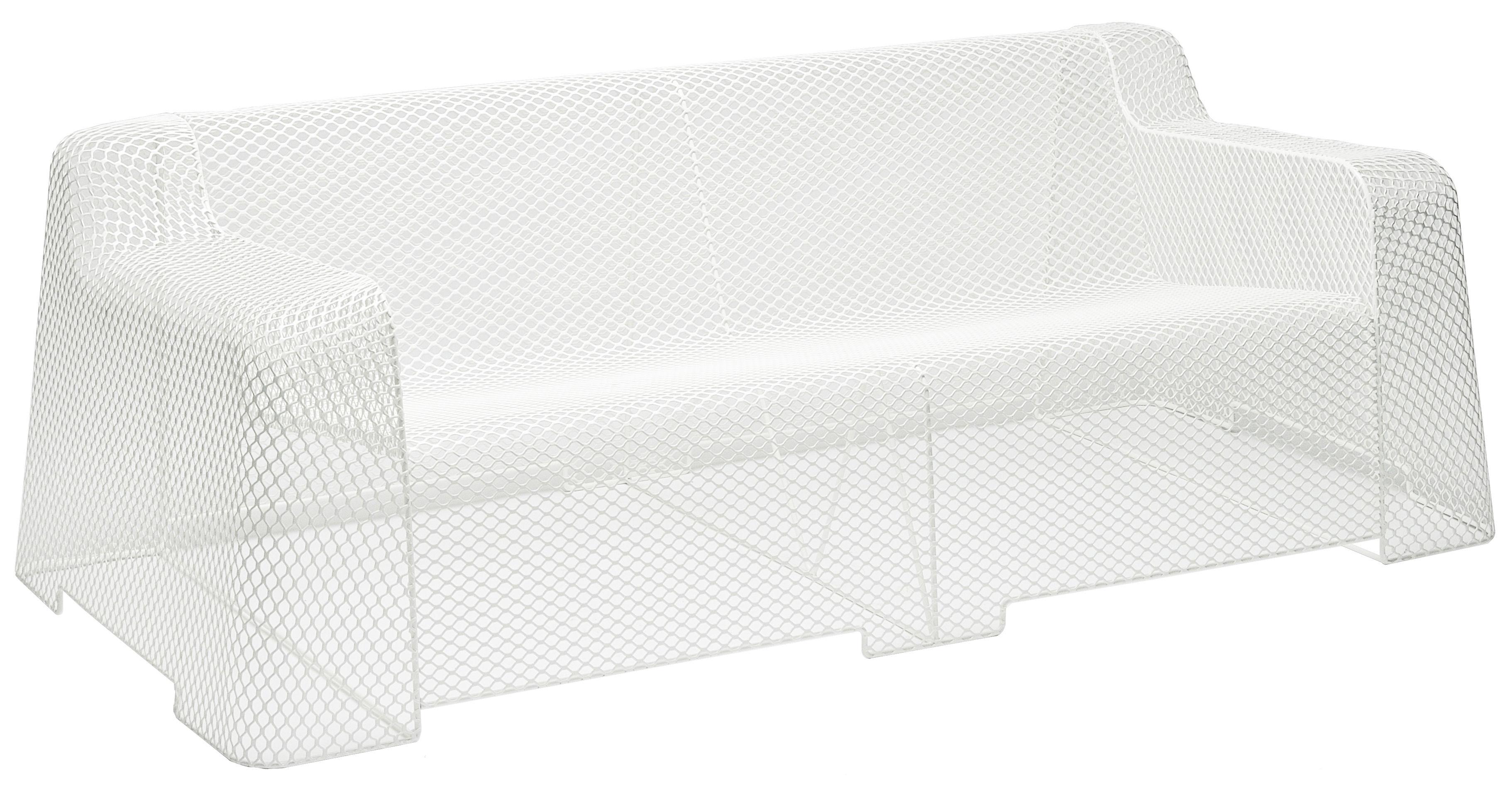 Outdoor - Poltrone e Divani - Divano destro Ivy - 2 posti di Emu - Bianco - Acciaio