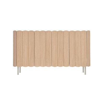 Furniture - Dressers & Storage Units - César Dresser - / L 124 cm - Oak by Hartô - Natural oak / Light grey feet - Lacquered metal, MDF veneer oak