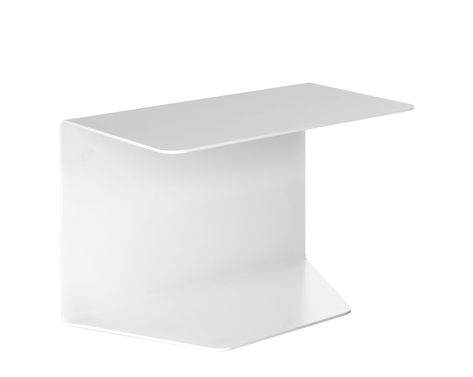 Furniture - Coffee Tables - Cosy 1 End table - / Metal - H 43 cm by MDF Italia - White - Aluminium
