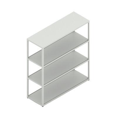 Mobilier - Etagères & bibliothèques - Etagère New Order / Métal - L100 x H 109,3 cm - Hay - Gris clair - Aluminium peinture poudre