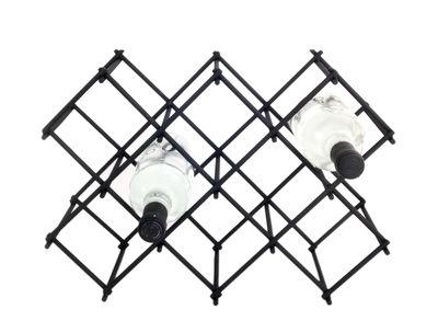 Tischkultur - Bar, Wein und Apéritif - Diamond Flaschenregal / für 8 Flaschen - Metall - XL Boom - Schwarz - Pulverbeschichteter Stahl