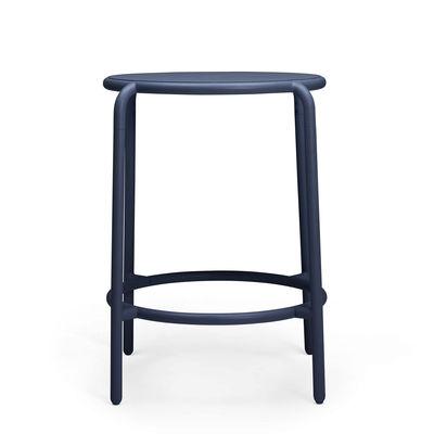Furniture - High Tables - Toní Haute Bistreau High table - / 59 x H 108 cm - Aluminium by Fatboy - Dark ocean - Powder-coated aluminium