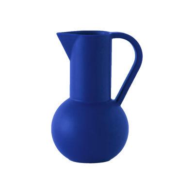 Tischkultur - Karaffen - Strøm Medium Karaffe / H 24 cm - Céramique / Fait main - raawii - Bleu Horizon - Keramik
