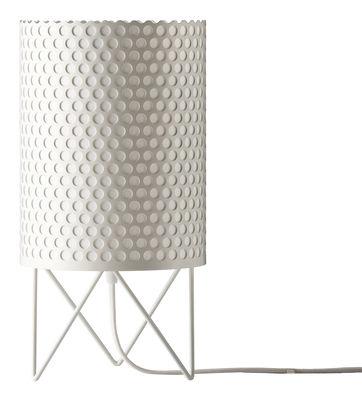 Image of Lampada da tavolo Pedrera ABC - Ø 18 x H 35 cm di Gubi - Bianco - Metallo