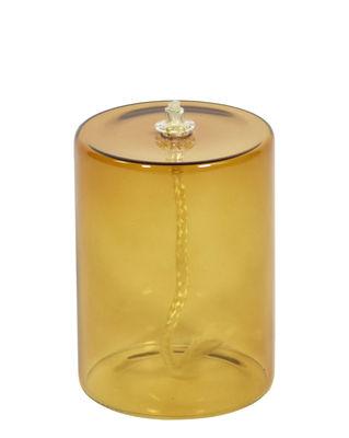 Lampe à huile Olie / Ø 7,5 x H 10 cm - ENOstudio jaune/marron en verre