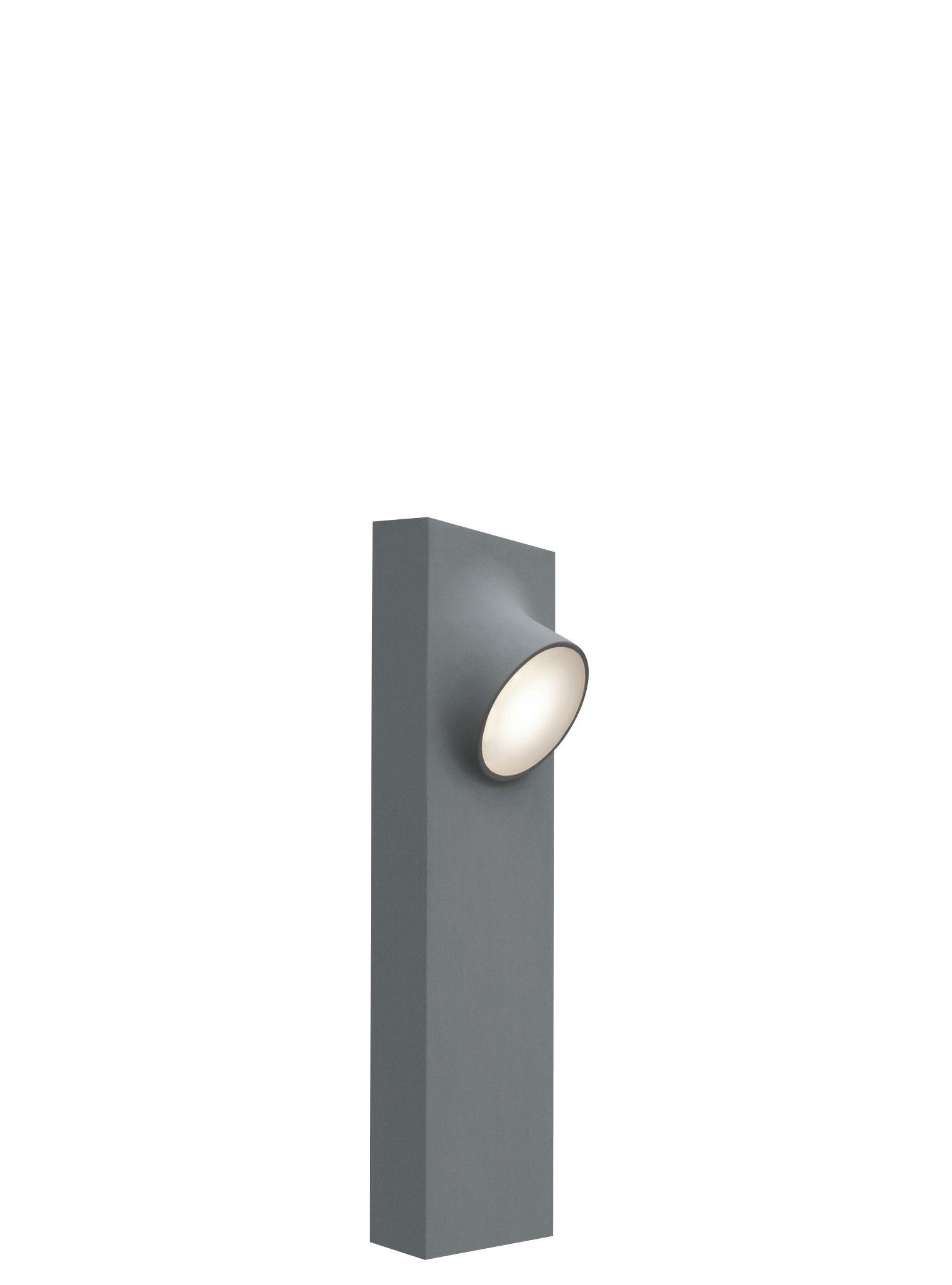 Luminaire - Luminaires d'extérieur - Lampe de sol Ciclope Double LED / extérieur - H 50 cm - Artemide - Gris - H 50 cm - Aluminium galvanisé