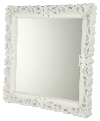 Outdoor - Déco et accessoires - Miroir mural Mirror of Love / 153 x 153 cm - Design of Love by Slide - Blanc - Polyéthylène rotomoulé