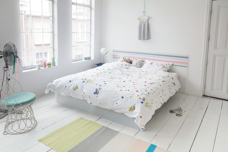 Parure de lit 2 personnes flower fields snurk blanc - Parure de lit om 2 personnes ...