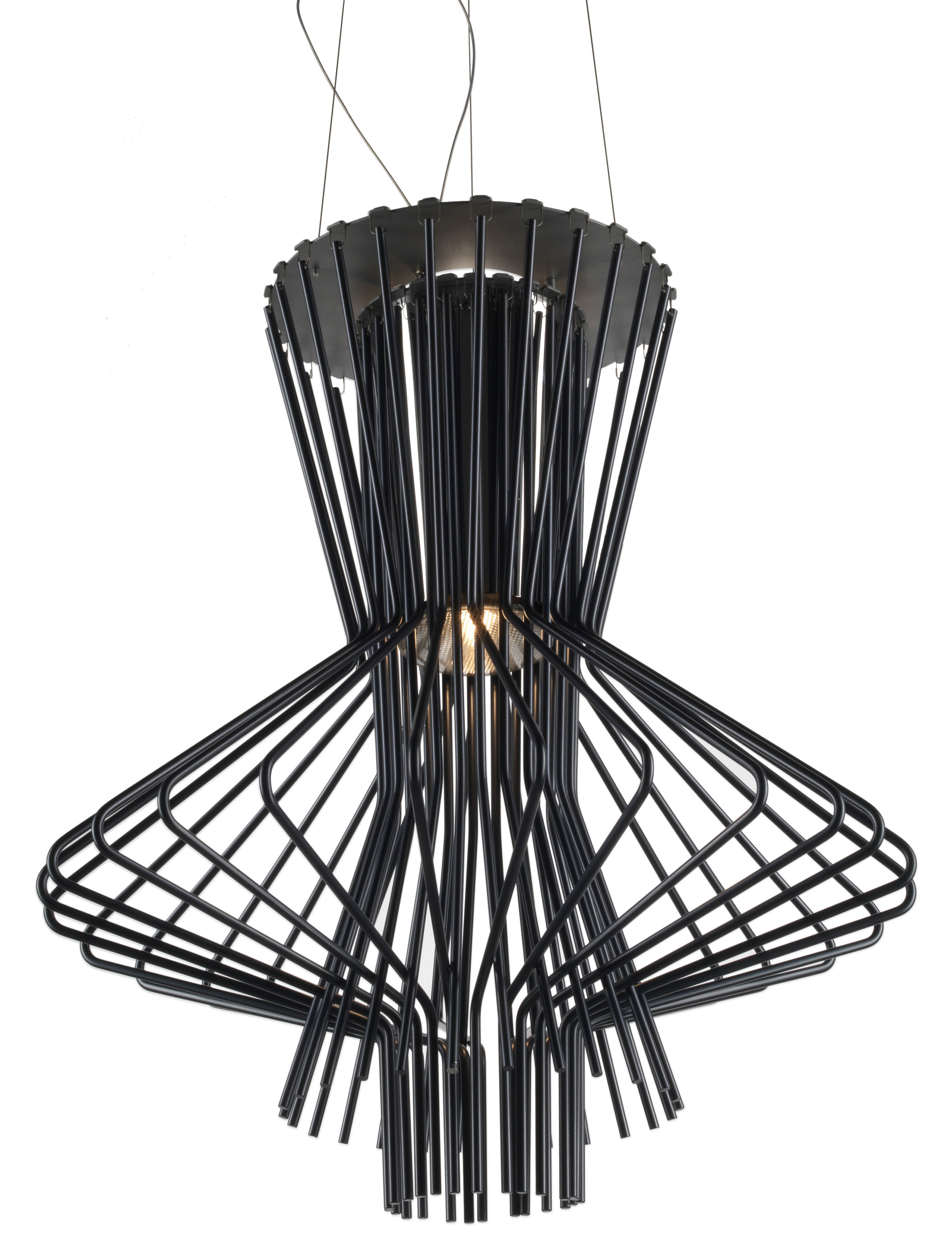 Lighting - Pendant Lighting - Allegro Ritmico Pendant by Foscarini - Black - Aluminium