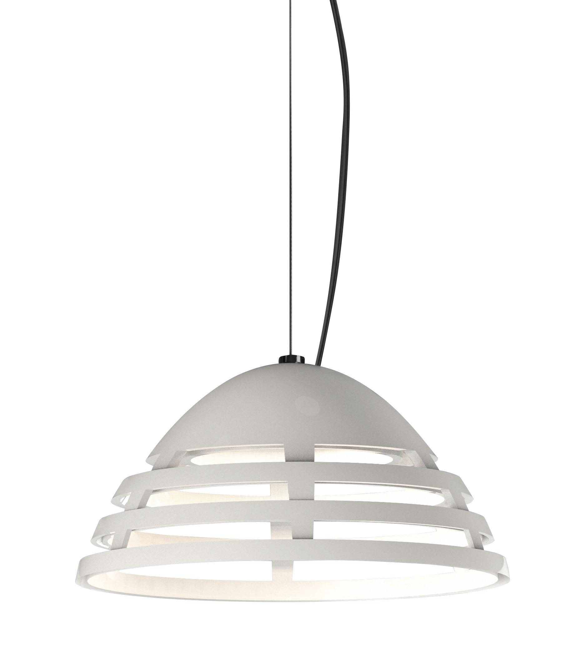 Lighting - Pendant Lighting - Incipit LED Pendant - LED / Ø 21 cm - Aluminium by Artemide - White - Painted aluminium
