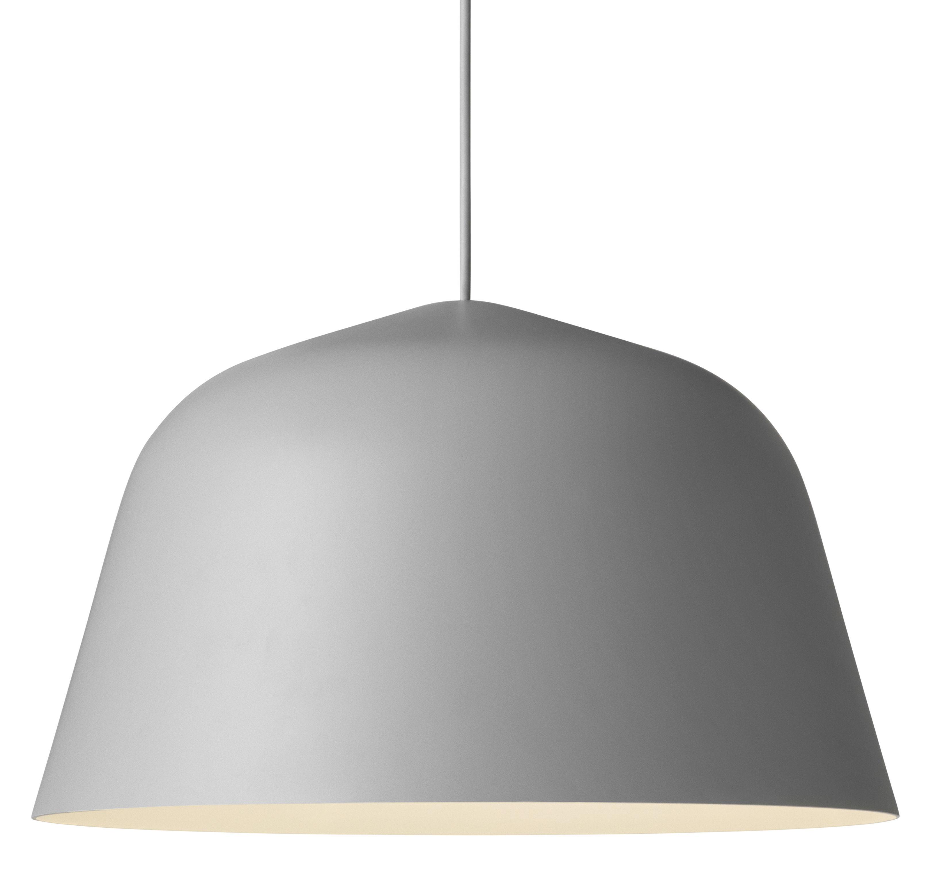 Leuchten - Pendelleuchten - Ambit Pendelleuchte / Ø 40 cm - Muuto - Grau - Aluminium