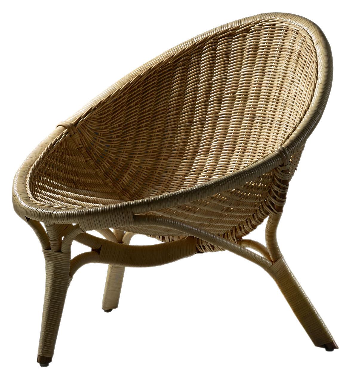 Arredamento - Poltrone design  - Poltrona Rana - / Riedizione 1951 di Sika Design - Poltrona naturale - Midollino