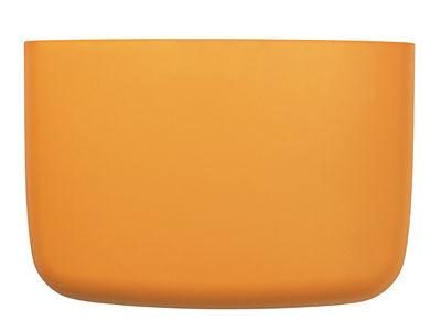 Interni - Per bambini - Portaoggetti da parete Pocket 4 - / L 28 x H 19 cm di Normann Copenhagen - Giallo arancio - Polipropilene