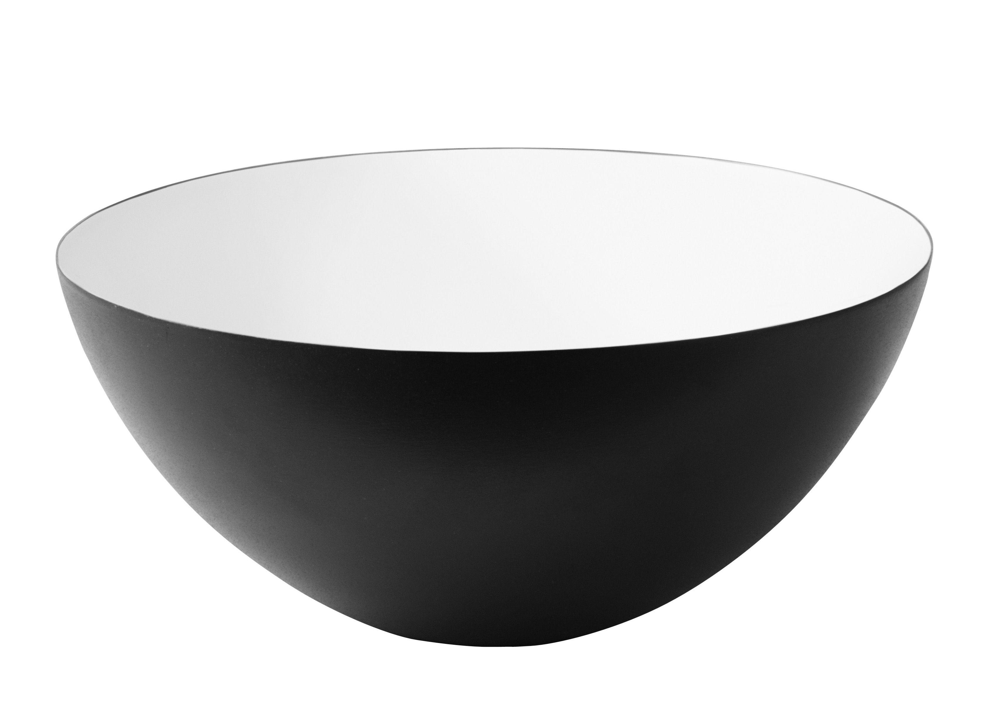 Tischkultur - Salatschüsseln und Schalen - Krenit Schale Ø 8,4 cm - Normann Copenhagen - Schwarz - innen weiß - emaillierter Stahl