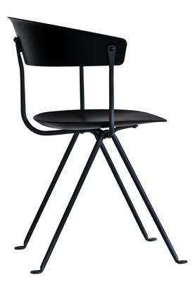 Möbel - Stühle  - Officina Sessel / Polypropylen - Magis - Schwarz / Gestell verzinkt - Polypropylen, Schmiedearbeit
