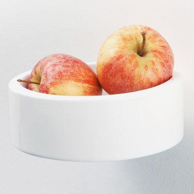 Furniture - Bookcases & Bookshelves - Bénitier Ø 14 cm Shelf by Moustache - White - Glazed ceramic