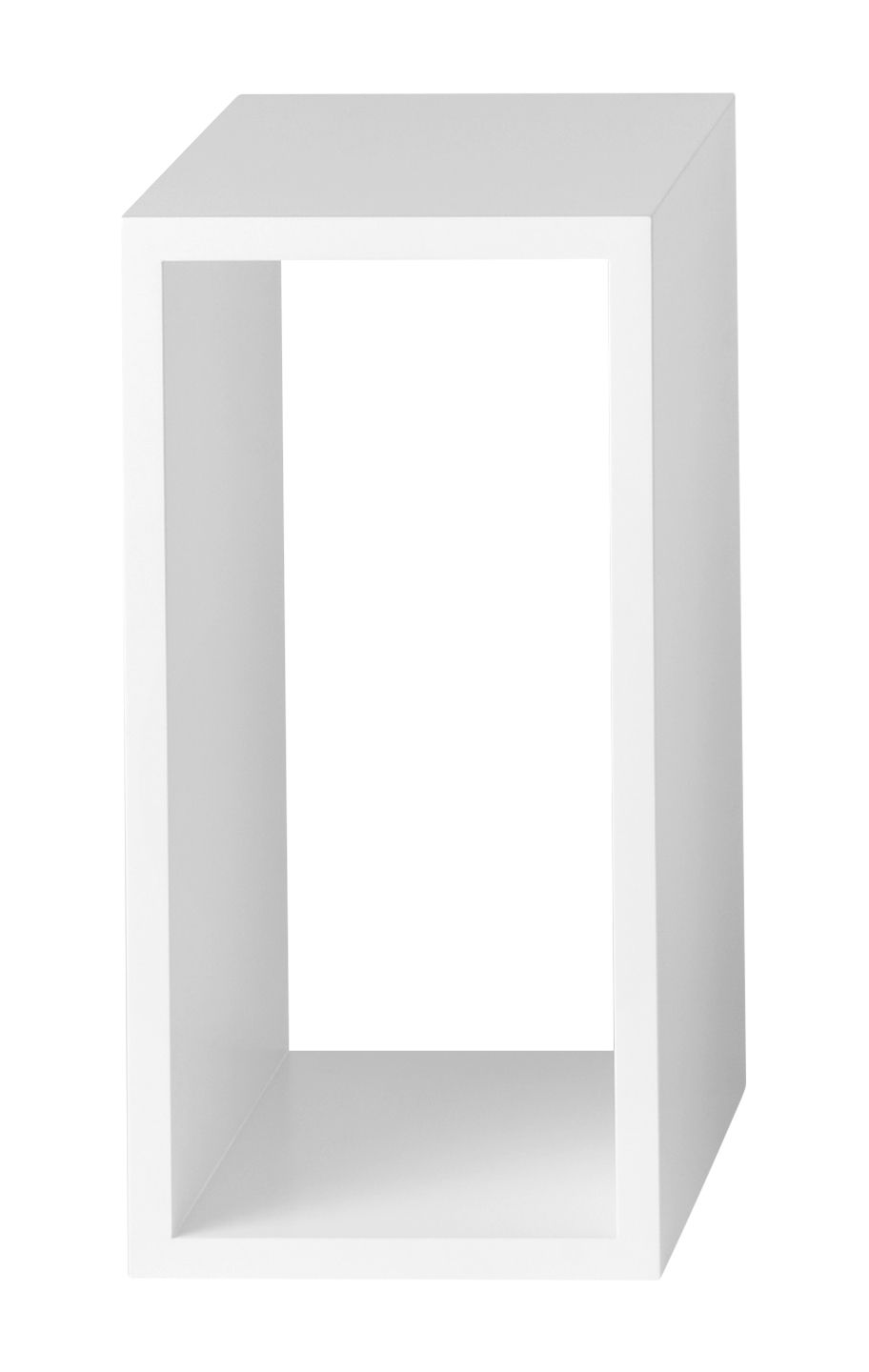 Furniture - Bookcases & Bookshelves - Stacked 2.0 Shelf - / Small rectangulaire 43x21 cm / Sans fond by Muuto - White - Painted MDF