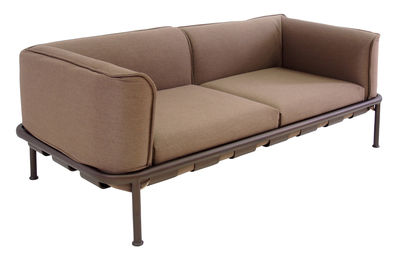 Dock Sofa / L 195 cm - Stoff - Emu - Braun