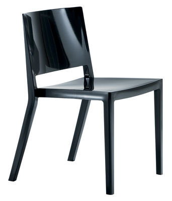 Furniture - Chairs - Lizz Stacking chair - Glossy version by Kartell - Glossy black - Technopolymer