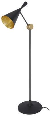 Leuchten - Stehleuchten - Beat Stehleuchte / H 168 cm - Tom Dixon - Schwarz - Gusseisen, Messing