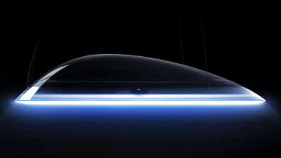Luminaire - Suspensions - Suspension Ameluna LED Bluetooth / by Mercedes-Benz - Ø 75 cm - Artemide - Bluetooth / Transparent - PMMA, Profilé d'aluminium poli