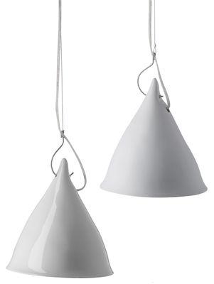 Luminaire - Suspensions - Suspension Très grande Cornette - Tsé-Tsé - Porcelaine blanche - Porcelaine