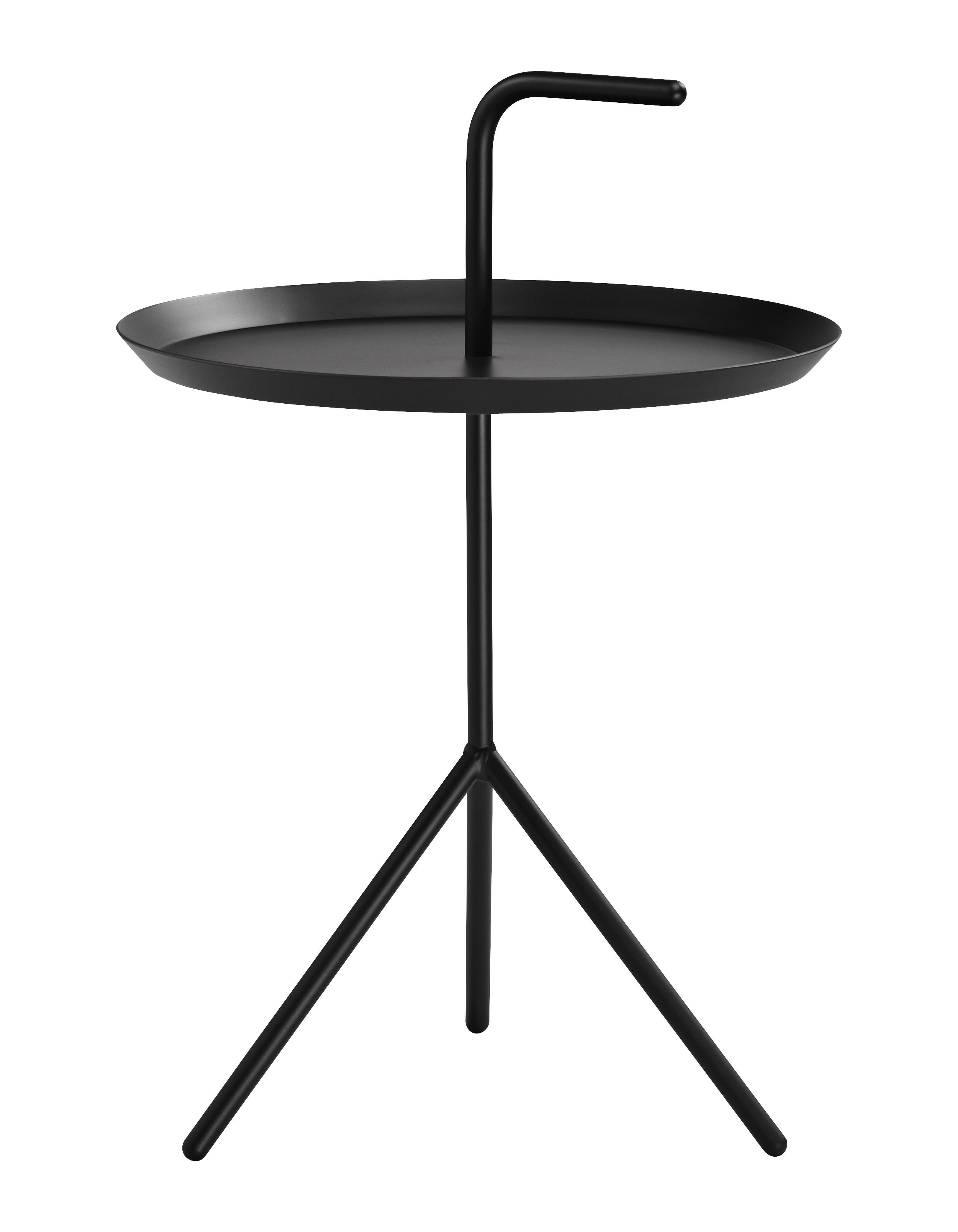 Mobilier - Tables basses - Table basse Don't leave Me / Ø 38 x H 44 cm - Hay - Noir - Acier laqué