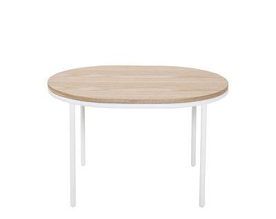 Table basse / Bois - 70 x 55 cm - Bloomingville blanc,chêne naturel en bois