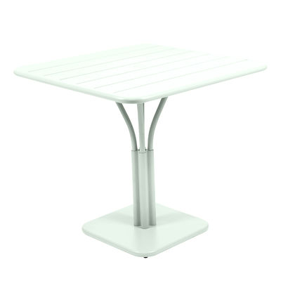Table carrée Luxembourg / 80 x 80 cm - Pied central - Fermob menthe glaciale en métal