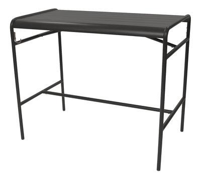 Table haute Luxembourg / 4 personnes - 126 x 73 cm - Aluminium - Fermob réglisse en métal