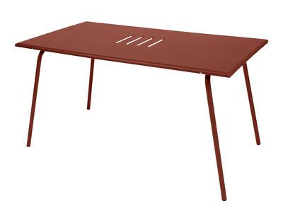 Table Monceau / 146 x 80 cm - 6 personnes - Fermob ocre rouge en métal
