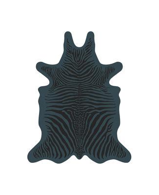 Outdoor - Déco et accessoires - Tapis Zèbre / 90 x 113 cm - Vinyle - PÔDEVACHE - Bleu / Rayures noires - Vinyle