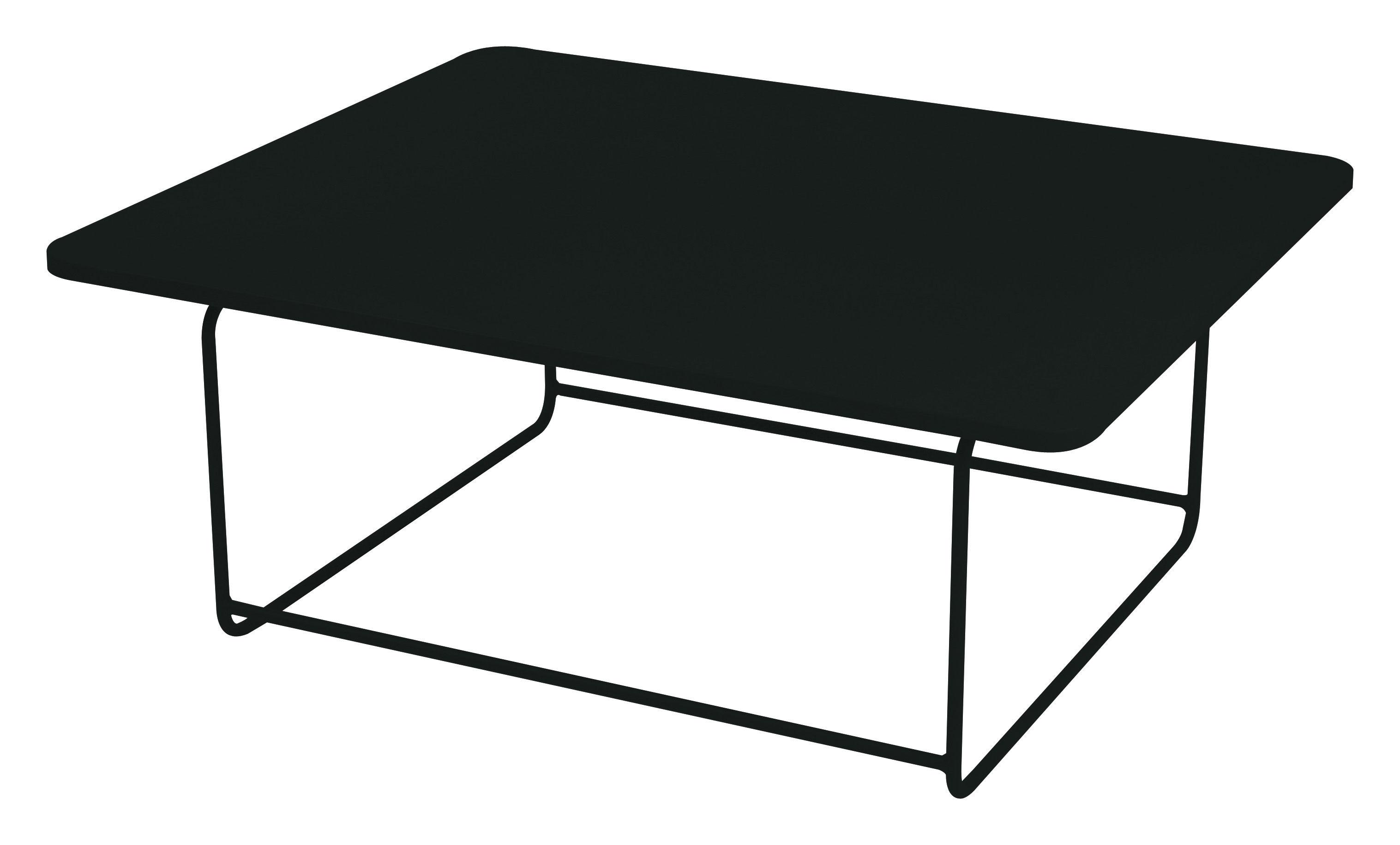 Arredamento - Tavolini  - Tavolino Ellipse - 110 x 90 cm - A 48 cm di Fermob - Liquerizia - Acciaio laccato