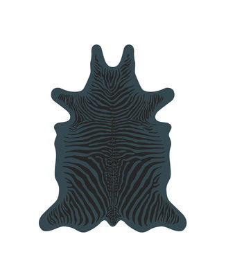 Zèbre Teppich / 90 x 113 cm - Vinyl - PÔDEVACHE - Blau,Schwarz