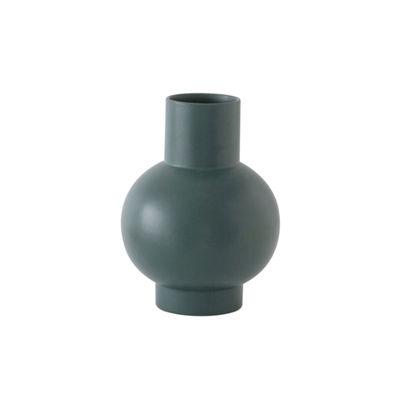 Image of Vaso Strøm Small - / H 16 cm - Ceramica / Fatta a mano di raawii - Verde - Ceramica