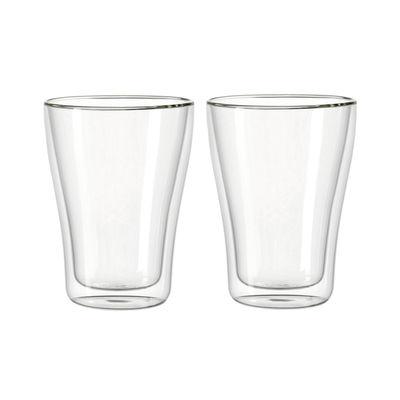 Arts de la table - Verres  - Verre isotherme Duo à double paroi / Set de 2  - 345 ml - Leonardo - Transparent - Verre